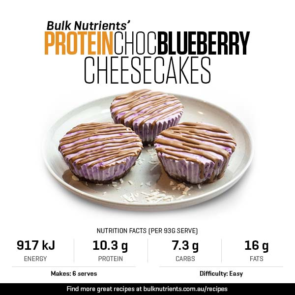 Protein Choc Blueberry Cheesecakes