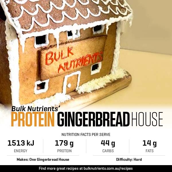Protein Gingerbread House