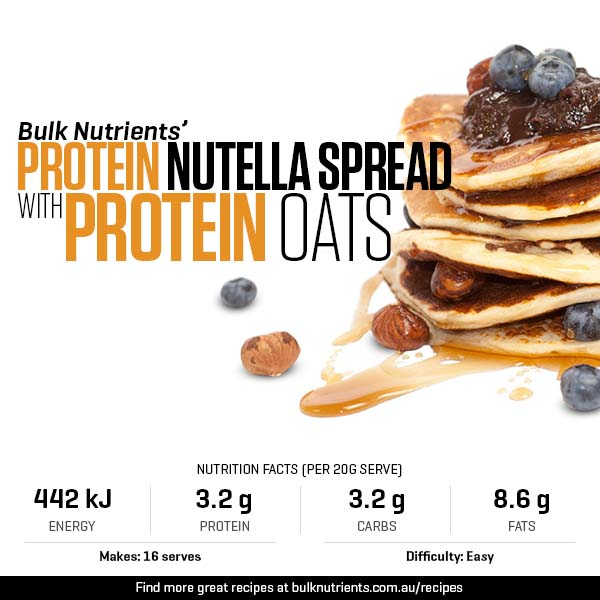 Protein 'Nutella' Spread with Bulk Nutrients Protein Pancakes