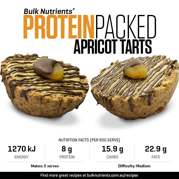 Protein-packed Apricot Tarts