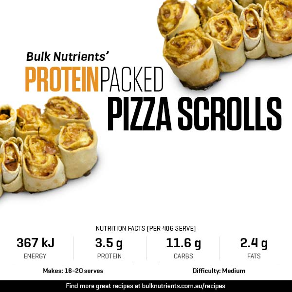 Protein-Packed Pizza Scrolls