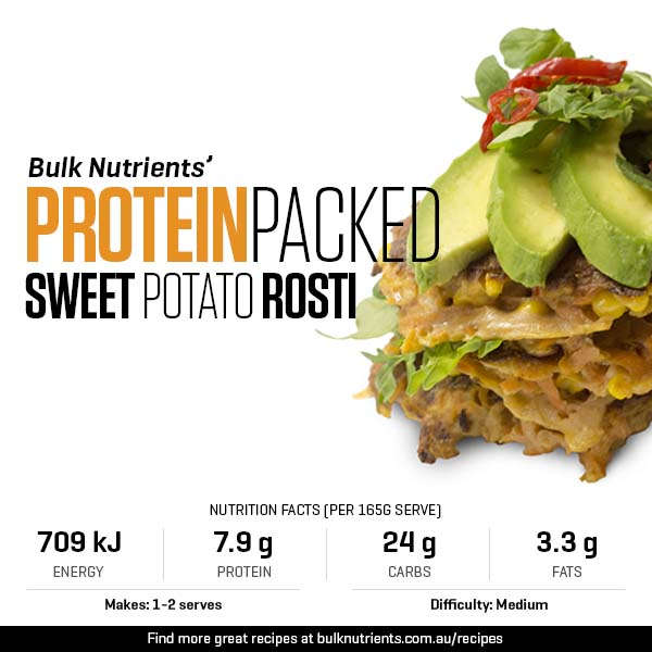 Protein-packed Sweet Potato Rosti