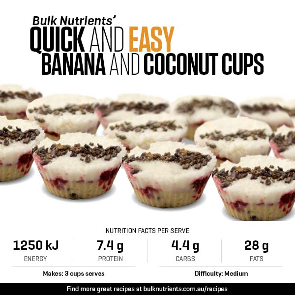 Quick and easy Banana and Coconut Cups