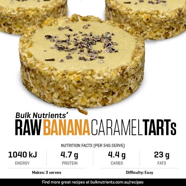 Raw Banana Caramel Tart