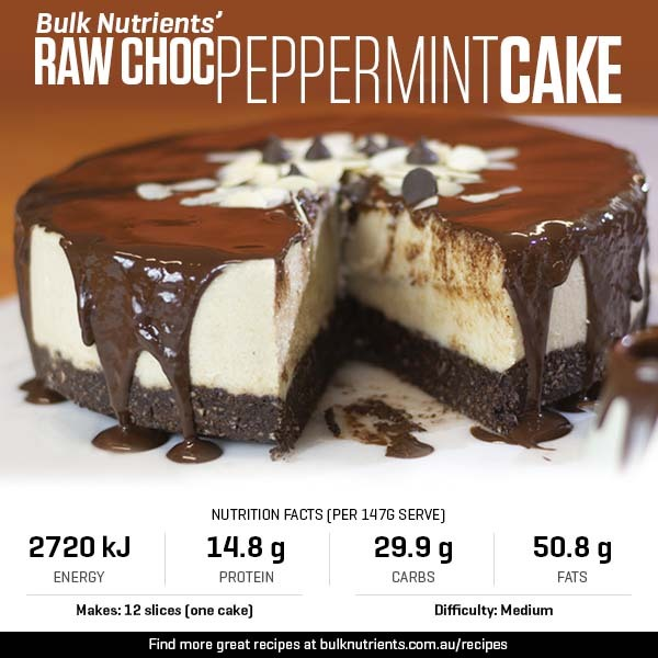 Raw Choc Peppermint Cake