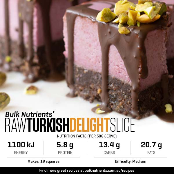 Raw Turkish Delight Slice