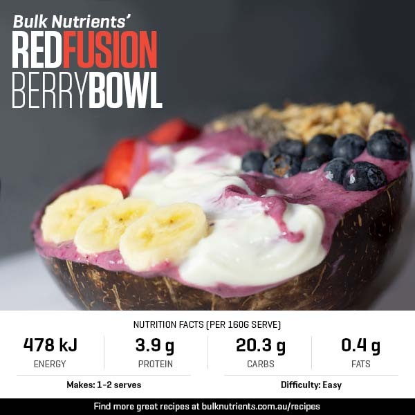 Red Fusion Berry Bowl