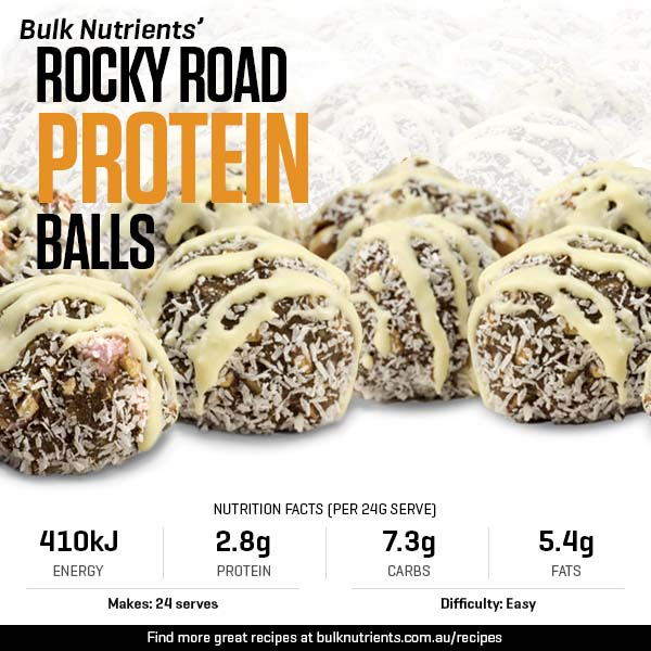 12 Days of Christmas - Rocky Road Protein Balls