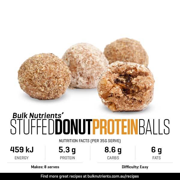 Stuffed Donut Protein Balls