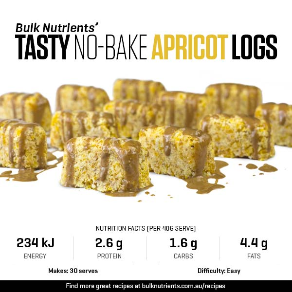 Tasty No-Bake Apricot Logs