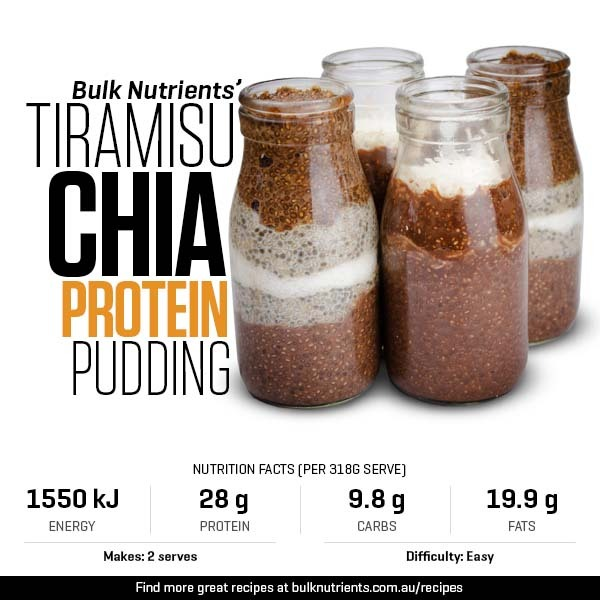 Tiramisu Chia Protein Pudding