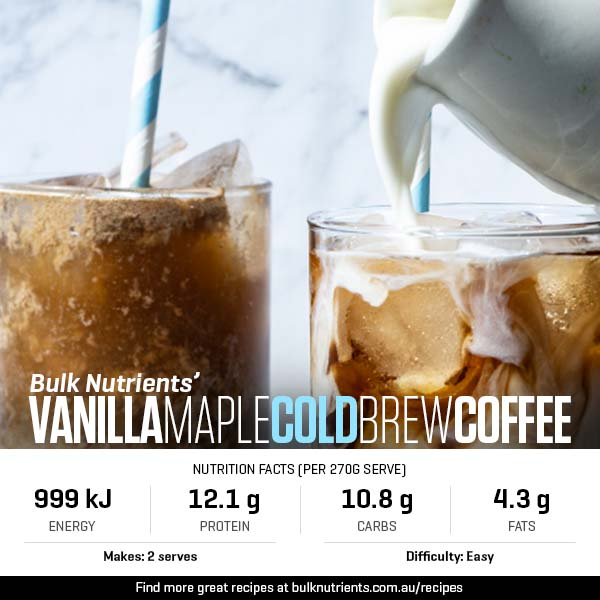 Vanilla Maple Cold Brew Coffee