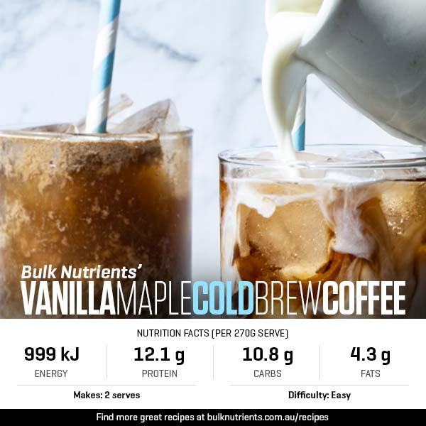 Vanilla Maple Cold Brew Coffee