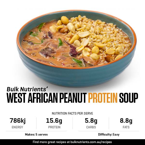 West African Peanut Protein Soup