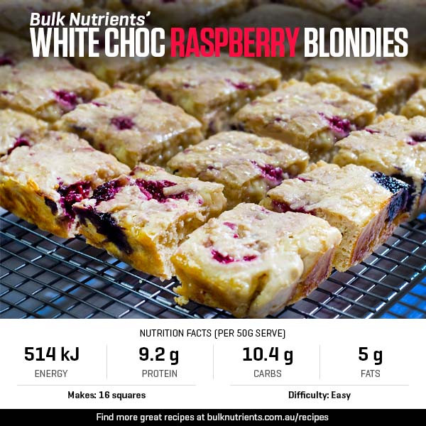 12 Days of Christmas - White Choc Raspberry Blondies