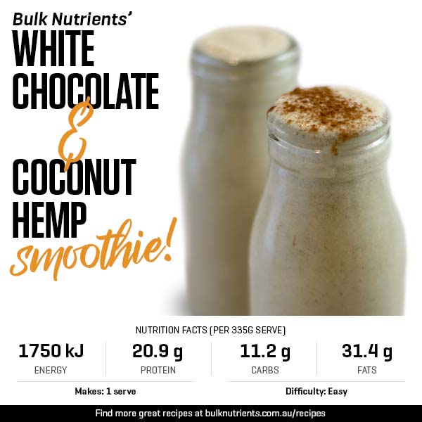 White Chocolate And Coconut Hemp Smoothie