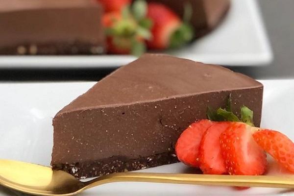 High Protein Choc Cheesecake