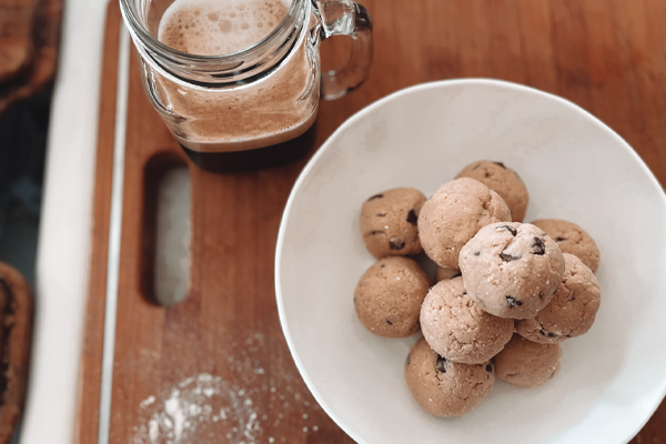Low Carb Vegan Cookie Dough Protein Balls