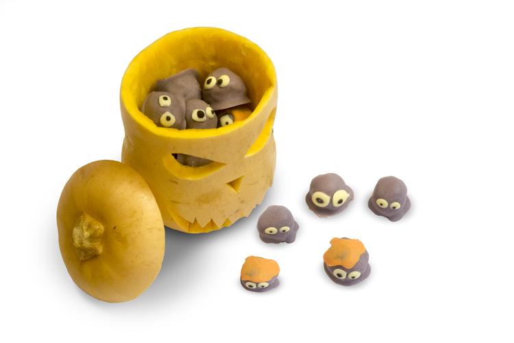 Halloween Monster Protein Balls