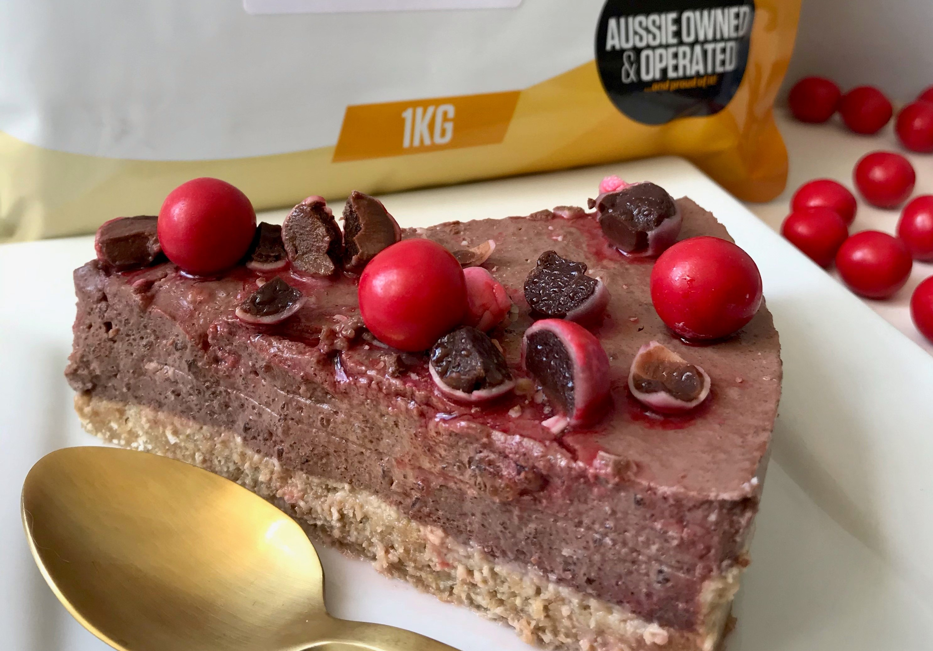 High Protein Jaffa Cheesecake