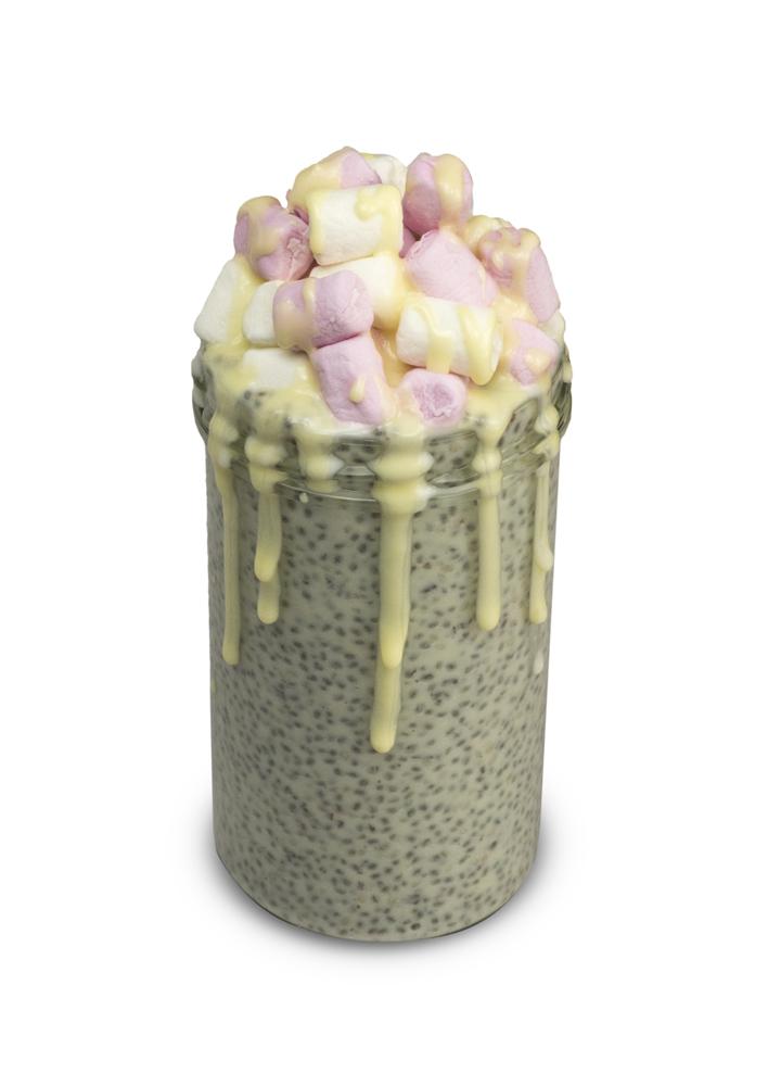 12 Days of Christmas - Raspberry Marshmallow Chia Pudding