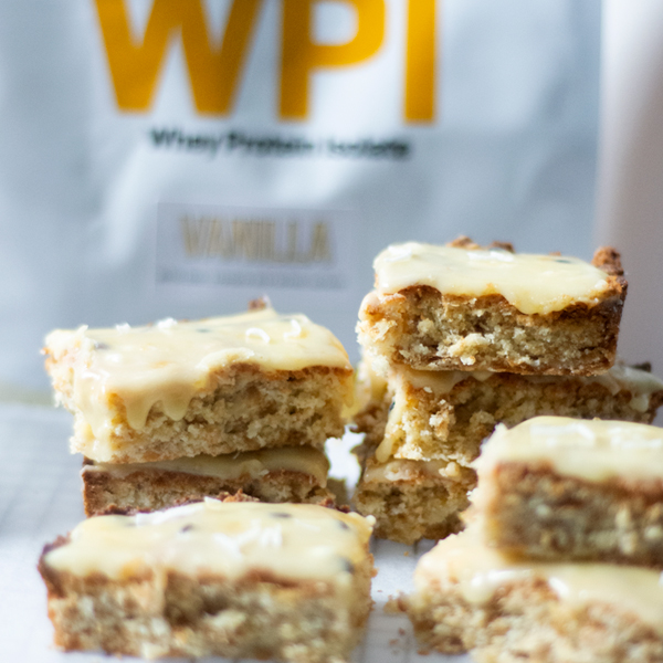 High Protein Passionfruit And Weetbix Slice