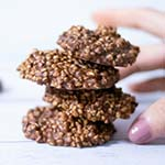 Crispy Chocolate Quinoa Cookies