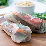 Rice Paper Rolls With Satay Sauce