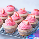 Strawberry Yogurt Cupcakes