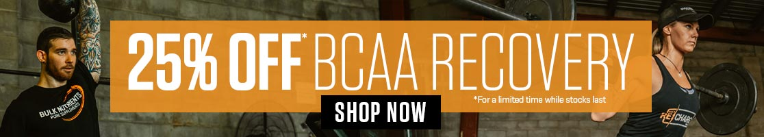 25% OFF* BCAA Recovery *For a limited time while stocks last