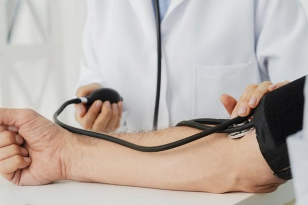 Check your blood pressure regularly and if it's higher than what's considered a normal reading, discuss what actions you should take with your GP