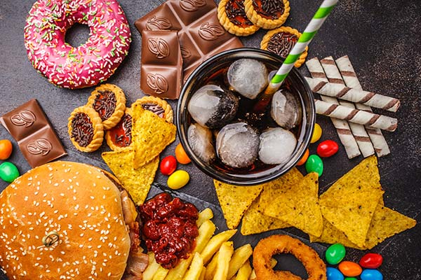 The study found that those following a processed diet consumed on average 500 more calories a day  and more foods high in fats and carbohydrates.