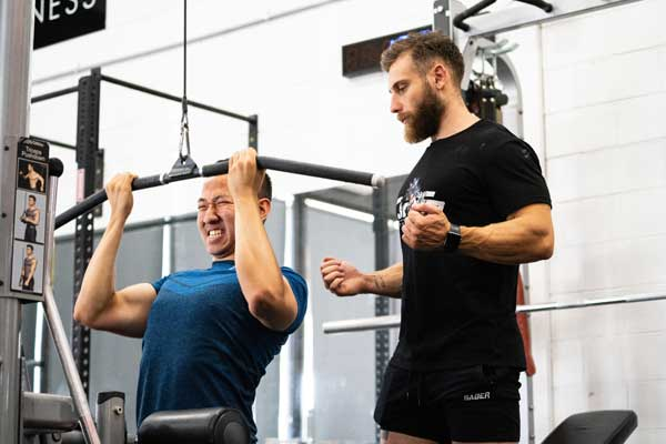 Mastering the correct lifting technique is imperative to maximise results and minimise the risk of injury. Organising a PT session or watching YouTube videos are both great learning tools.