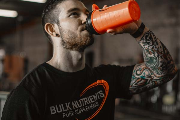 Sam brereton enjoyin a protein shake