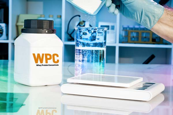 Lab testing whey protein concentrate