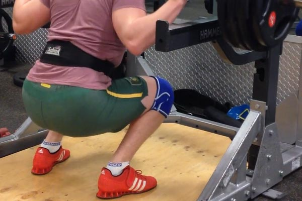Knee sleeve/wraps and belts can help you feel more secure while squatting heavy and also help prevent injuries.