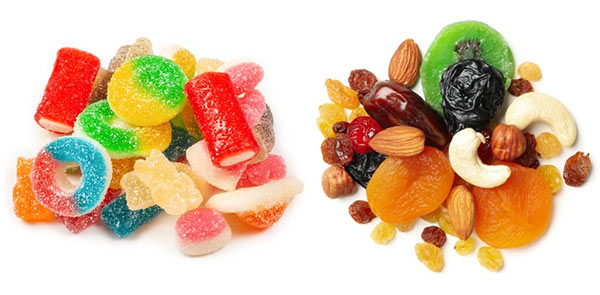 Lollies as healthy as dried fruit?