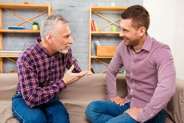 If you're feeling down, reach out to a family member or friend who you trust and have a chat.