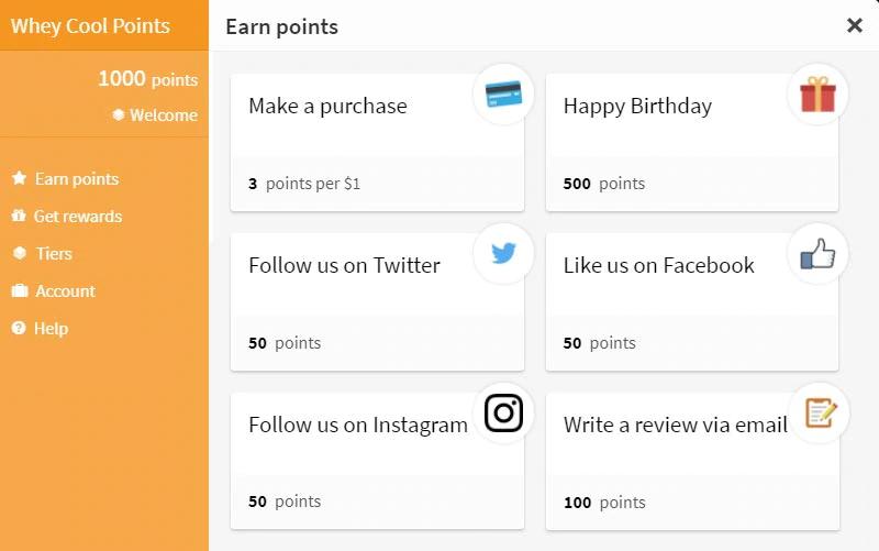 Rewards Program Updates - Whey Cool Points