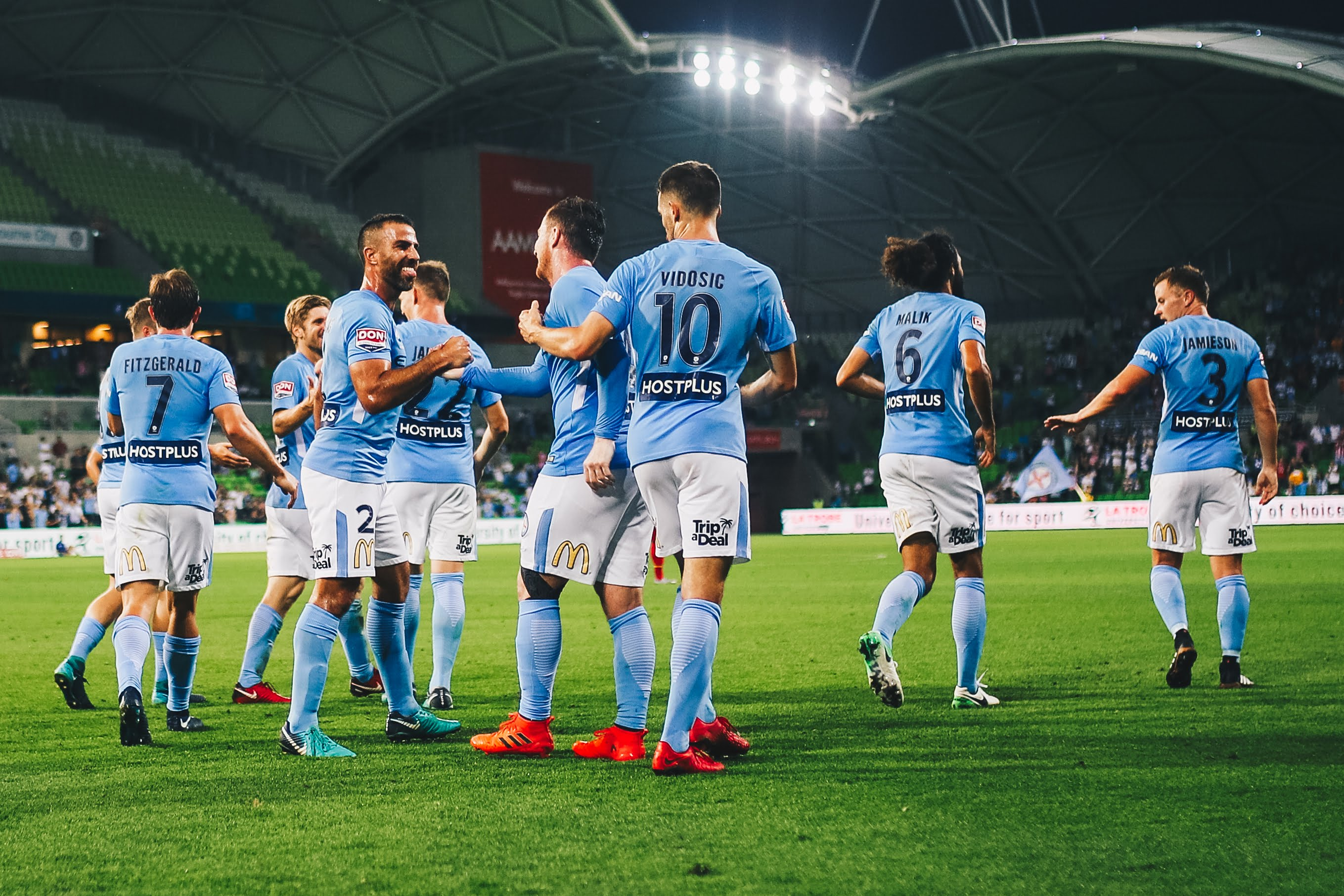 Melbourne City Football Club play in the A-League, and compete across Australia at the highest level