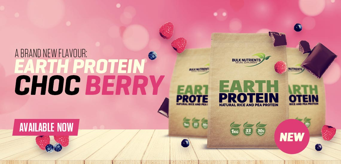 A brand new flavour for Earth Protein Choc Berry