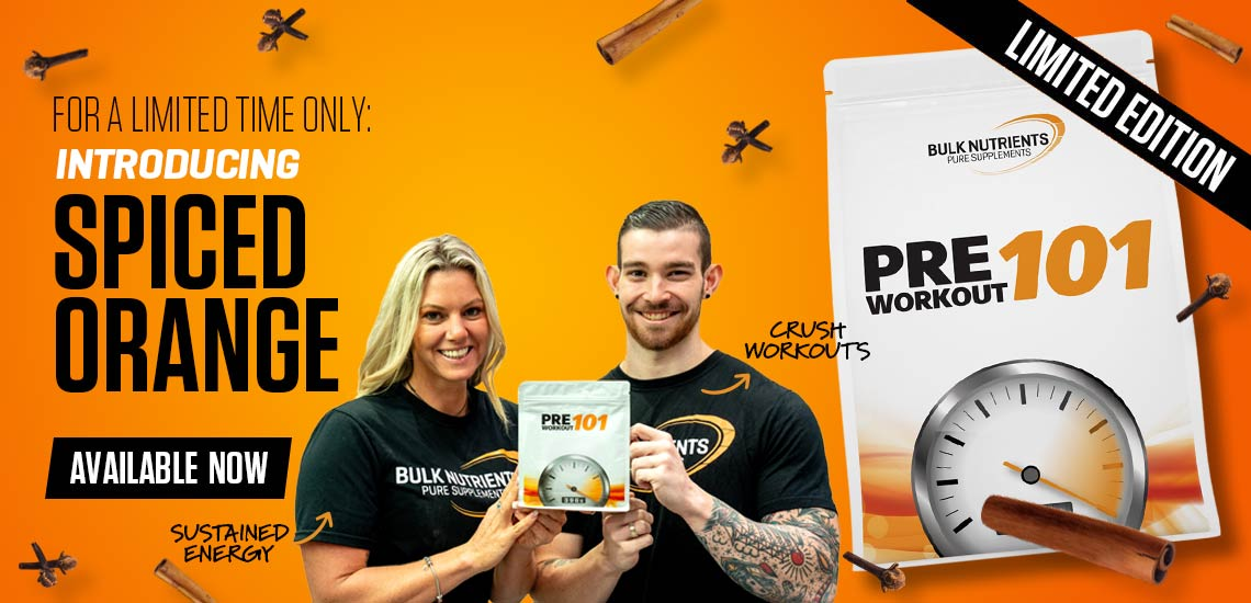 Limited Edition flavour for Pre Workout 101 Spiced Orange!