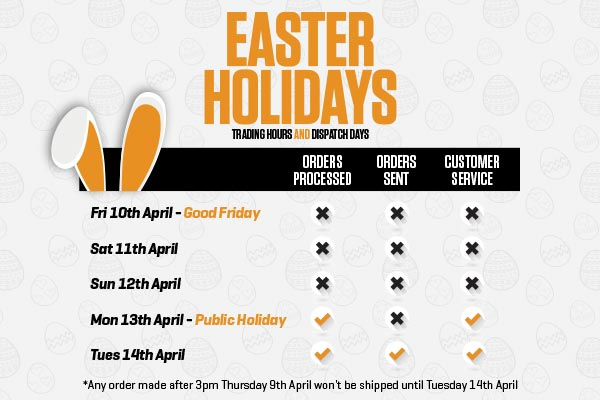 Easter Holidays - Trading hours and dispatch days