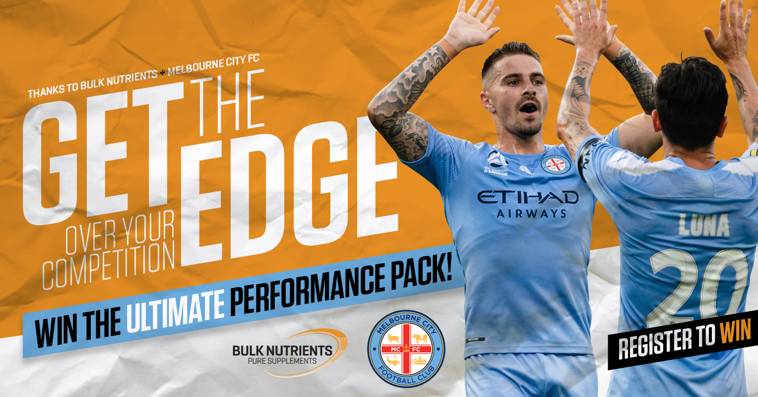 Thanks To Culk Nutrients + Melbourne City FC - Get the Edge Over your Competition. With the Ultimate Performance Pack!