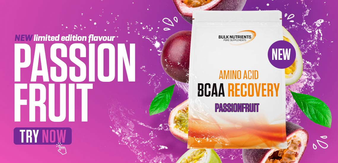 New limited edition BCAA Recovery flavour - Passionfruit. Try Now