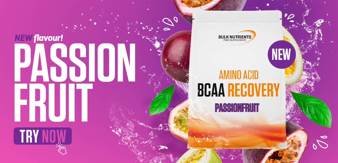 New flavour - BCAA Recovery flavour - Passionfruit. Try Now
