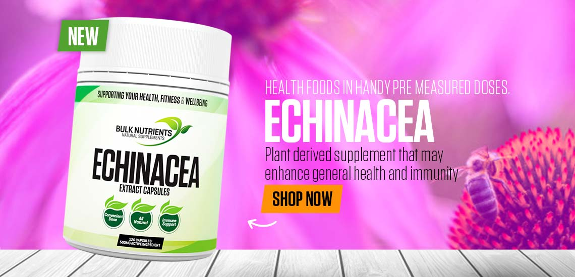 NEW - Echinacea Capsules - Plant derived supplement that may enhance general health and immunity.