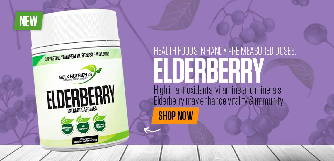 NEW - Elderberry Capsules - High in antioxidants, vitamins and minerals, Elderberry may enhance vitality & immunity.