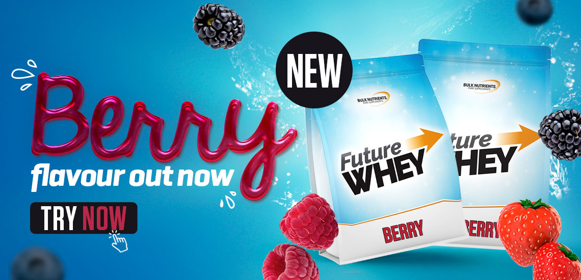 New Future Whey flavour - Berry. Try Now!!