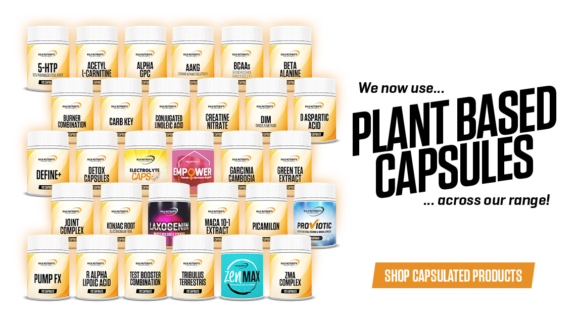 Bulk Nutrients now uses plant based capsules across its range!